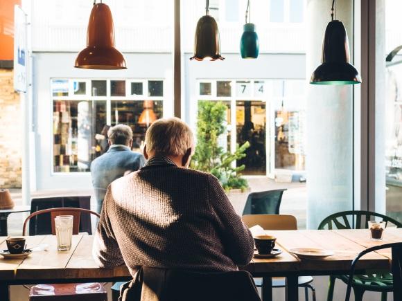 Diner, Senior, Coffee