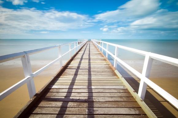 Dock, Beach, Ocean